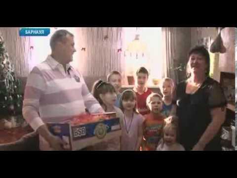 """Телеканал """"Катунь 24"""" подарил ящик мандаринов многодетной семье из Барнаула"""
