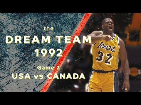"Dream Team 1992: ""Return to Olympus""/ Game 2/ USA vs CANADA/ FULL GAME HIGHLIGHTS"