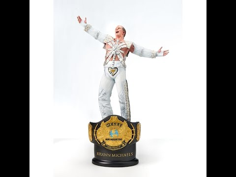 "Shawn Michaels ""HBK"" WWE Championship Title Statue Review #62"