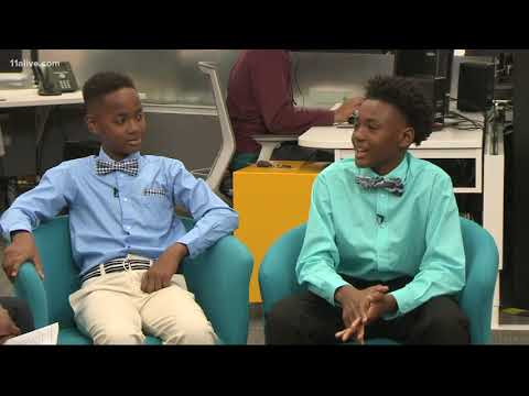 Atlanta boys start their own business making bowties