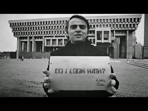 Carl Sagan showing how it was determined the Earth was not flat thousands of years ago