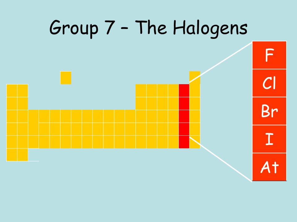 halogen group - Periodic Table Halogens