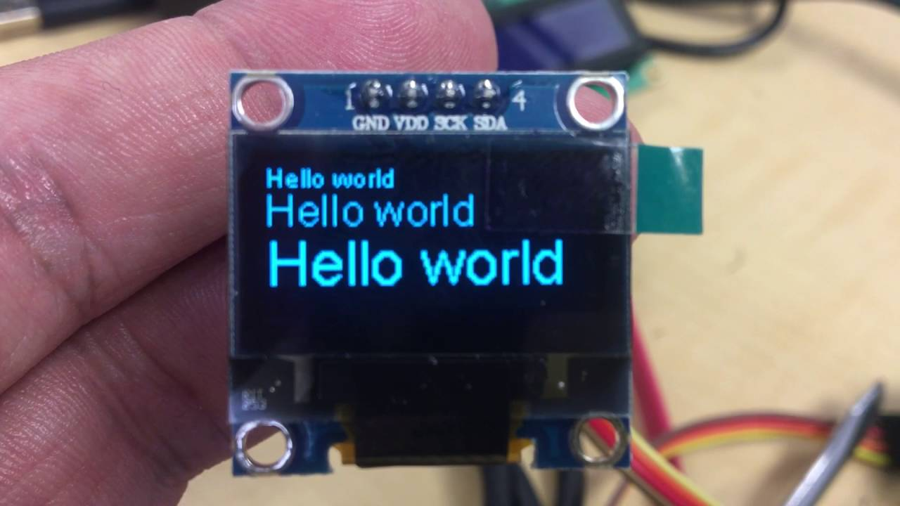 SSH1106 I2C OLED Display, running on NodeMCU - WHAT WORKED FOR ME