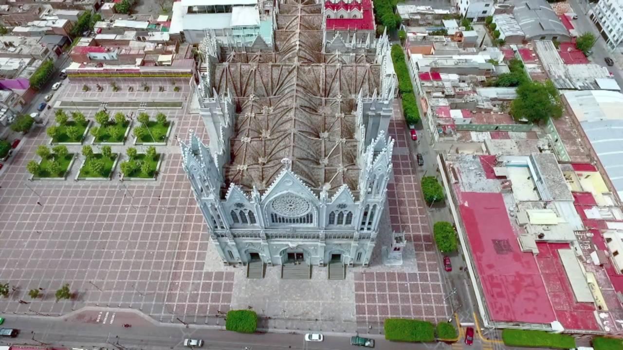 El Templo Expiatorio de León visto desde las alturas