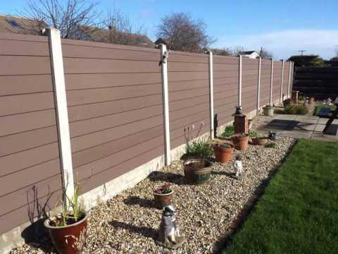diy wood plastic composite fence panel - Composite Fencing