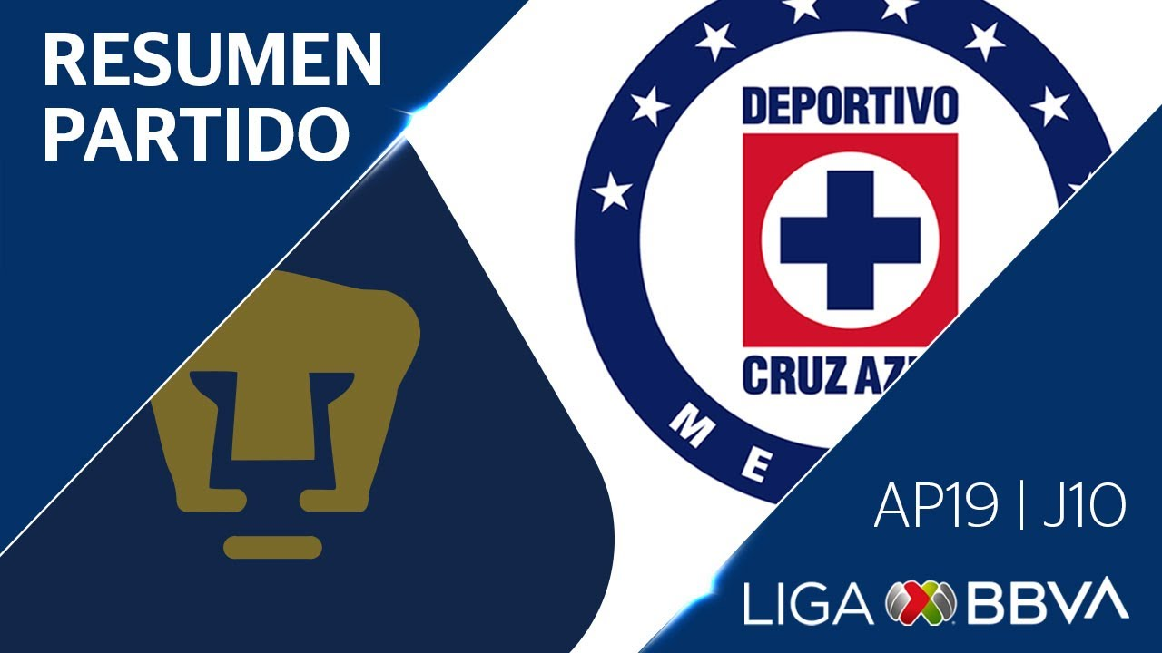 Resumen y Goles | Pumas vs Cruz Azul | Jornada 10 - Apertura 2019 | Liga BBVA MX
