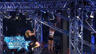Finaler-Staffellauf: Magic Monkeys vs. Fusion   Team Ninja Warrior Germany 2019