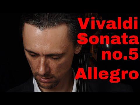 Vivaldi -Sonata #5 Allegro FAST And SLOW Tempo  (Suzuki Book 5)