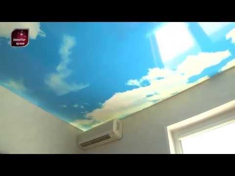 Натяжной потолок в детской комнате, фотопечать - Харьков
