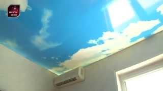 Натяжной потолок в детской комнате, фотопечать - Харьков(Натяжные потолки в детской комнате. Монтаж натяжных потолков