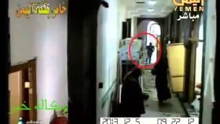 صور حصرية للهجوم الإرهابي على مستشفى العرضي بمجمع الدفاع من كاميرا المراقبة منذ بداية الهجوم