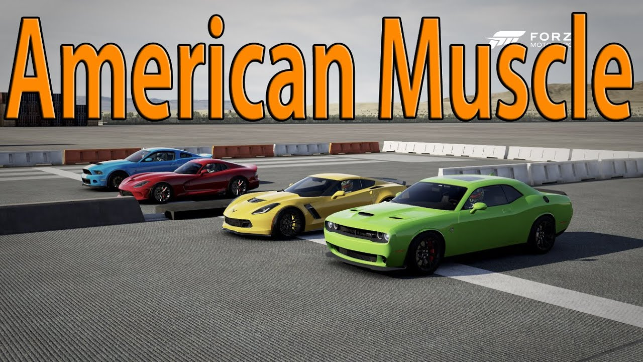 Forza Motorsport American Muscle Car Drag Race Challenger
