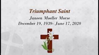7-8-2020 | Wednesday 10:00 am Janeen Moeller Morse funeral