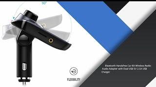 victsing car mp3 player fm transmitter bluetooth handsfree car kit wireless radio audio adapter