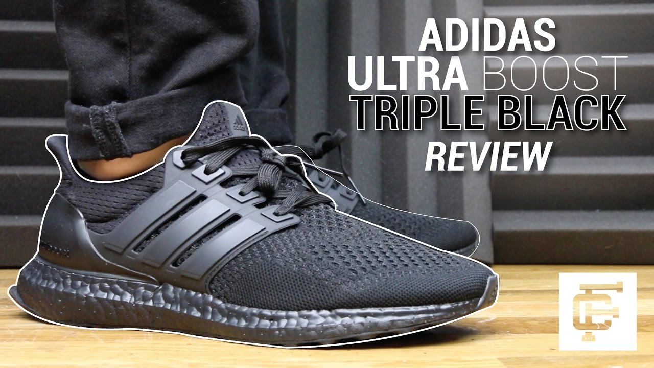 609bebc76ed1f ADIDAS ULTRA BOOST TRIPLE BLACK REVIEW - YouTube