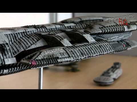 BATTLESTAR GALACTICA model kit by Moebius  modifying and redetailing to match CGI by ZOIC