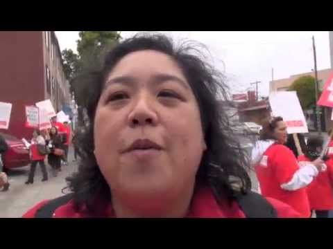 SF NUHW Healthcare Workers Strike Providence Group Inc. Over Attacks On Healthcare