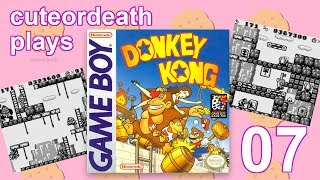 cuteordeath plays Donkey Kong Part 07: Porcupine Trouble
