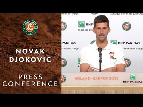 Novak Djokovic Press Conference after Round 4 I Roland-Garro