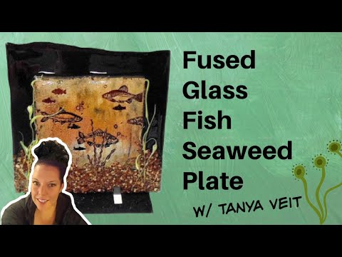 Fused Glass Fish Seaweed Plate