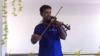 karimizhi kuruviye kandilla in violin (rehearsal at home) by abijith veluthur 9995237054