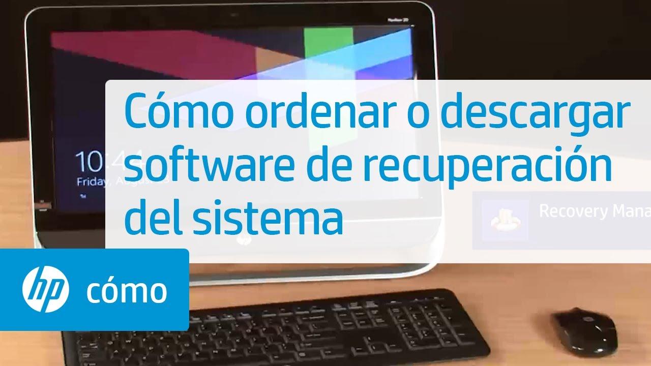 Cómo ordenar o descargar software de recuperación del sistema | HP  Computers | HP