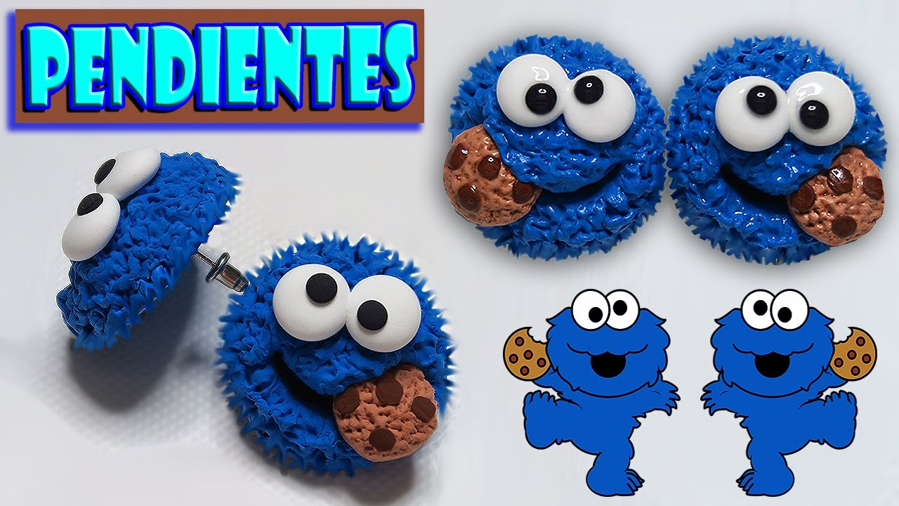 🍪 Tutorial: Pendientes/Aretes del Monstruo Come Galletas 🍪 - YouTube