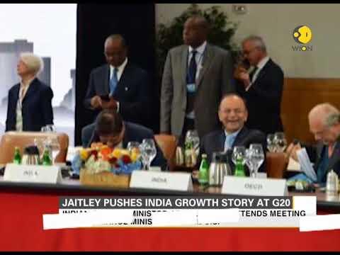 Jaitley pushes India growth story at G20