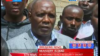 Land Commissioner Muhammad Swazuri shares his moments with the late CS Nkaissery