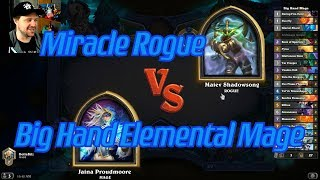 Big Hand Elemental Mage vs Miracle Rogue - Hearthstone