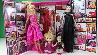 Maşa Sihirli Cadıdan Yardım İstiyor Barbinin Yeni Kıyafetleri Barbie Partiye Gidebilecek'mi?