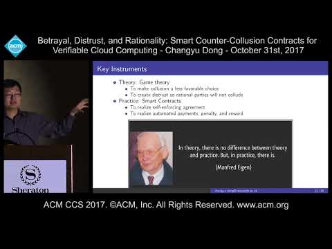 ACM CCS 2017 - Betrayal, Distrust, and Rationality: Smart Counter Collusion [...] - Changyu Dong