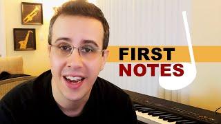 Primeiras notas musicais e melodias desta nova composição | O começo do processo criativo