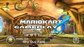 Mario Kart 8 -  Shy Guy Falls   - Flower Cup - Shy Guy Gameplay [ HD ]
