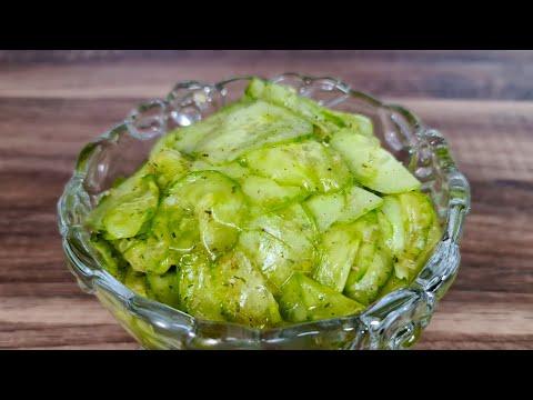 leckerer-gurkensalat-mit-apfelessig-&-Öl-selber-machen-/-mamas-rezept