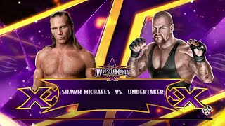 WWE 2K15-  Undertaker vs Shawn Michaels at Wrestlemania 25 Normal Match (PS4)