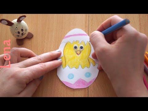 osterkarte-mit-küken-basteln-🐥-diy-easter-card-with-chicken-🐣-открытка-на-пасху