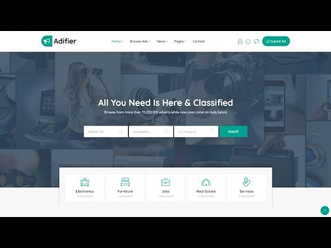 How To Make A Classified Advertisement Listing Website With WordPress 2018 - Adifier Theme