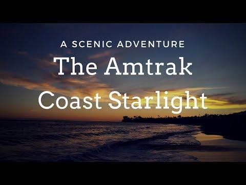 Amtrak Coast Starlight: Los Angeles to Seattle scenery, dining, roomette & sleeper car train.