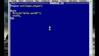 Turbo pascal: Hello world