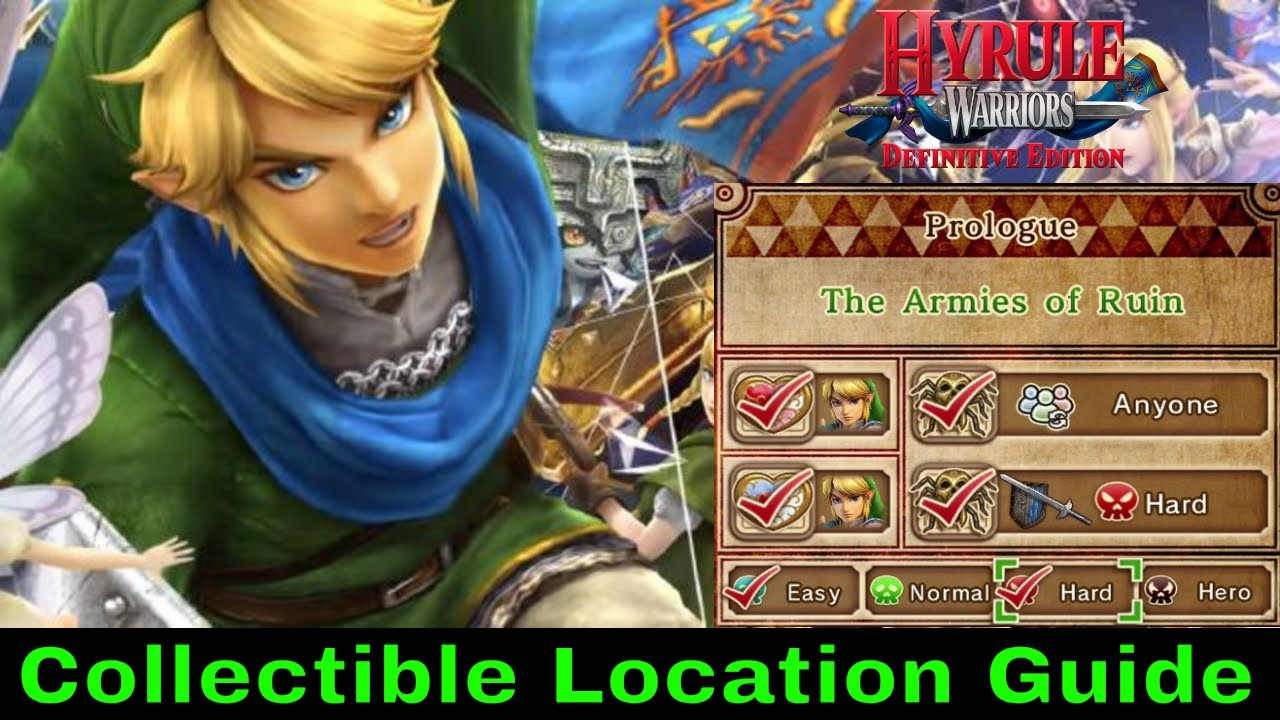 The Girl In The Green Tunic Collectible Guide Hyrule Warriors Switch 2018 Youtube