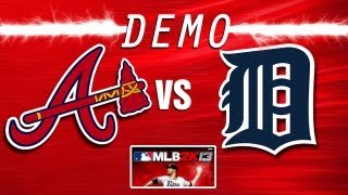 MLB 2K13 MOD (PC)-BRAVES @ TIGERS (new graphics)