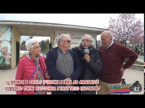 VITTORIO CHINI INCONTRA AD AMATRICE IL PRINCIPE CARLOI