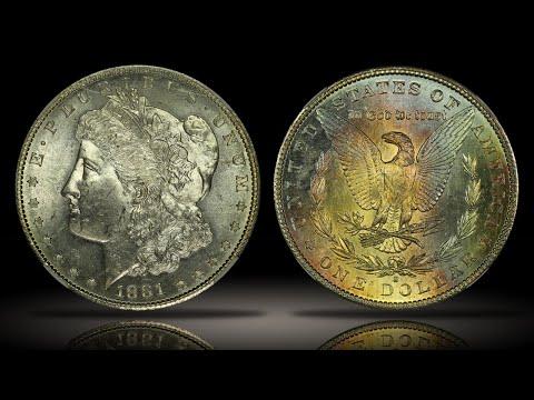 1881-S Morgan Dollar NGC MS65* CAC Star Grade Full Rainbow Toned Reverse