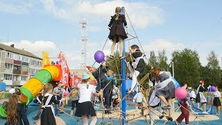 Открытие детской площадки в Павловичах