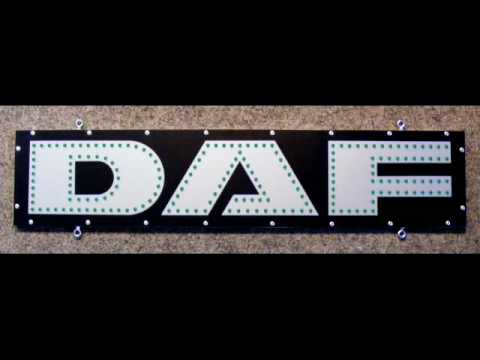 daf led schild f r den trucker truck lkw 24v youtube. Black Bedroom Furniture Sets. Home Design Ideas