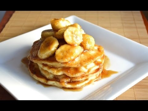 BANANAS FOSTER BUTTERMILK PANCAKES RECIPE |Cooking With Carolyn