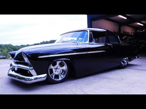 1955 Plymouth Savoy Alloway's Hot Rod Shop Pro Auto Custom Interiors by Steve Holcomb