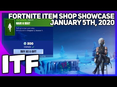 Fortnite Item Shop HAVE A SEAT IS BACK! [January 5th, 2020] (Fortnite Battle Royale)