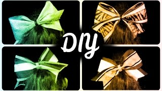 DIY Cheer Bows {EASY} - HowToByJordan